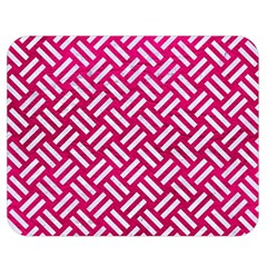 Woven2 White Marble & Pink Leather Double Sided Flano Blanket (medium)