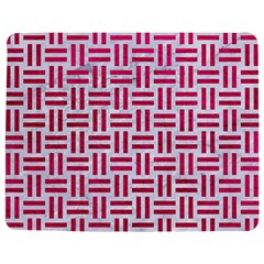 Woven1 White Marble & Pink Leather (r) Jigsaw Puzzle Photo Stand (rectangular)