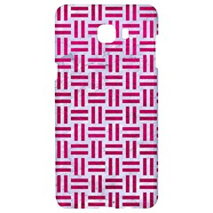 Woven1 White Marble & Pink Leather (r) Samsung C9 Pro Hardshell Case  by trendistuff