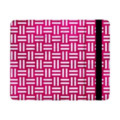 Woven1 White Marble & Pink Leather Samsung Galaxy Tab Pro 8 4  Flip Case
