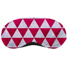 Triangle3 White Marble & Pink Leather Sleeping Masks