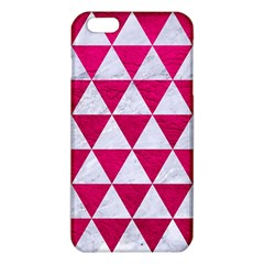 Triangle3 White Marble & Pink Leather Iphone 6 Plus/6s Plus Tpu Case