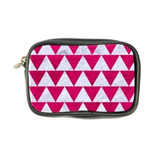 Triangle2 White Marble & Pink Leather Coin Purse