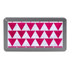 Triangle2 White Marble & Pink Leather Memory Card Reader (mini)