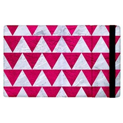 Triangle2 White Marble & Pink Leather Apple Ipad 2 Flip Case