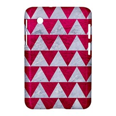 Triangle2 White Marble & Pink Leather Samsung Galaxy Tab 2 (7 ) P3100 Hardshell Case