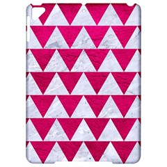 Triangle2 White Marble & Pink Leather Apple Ipad Pro 9 7   Hardshell Case by trendistuff