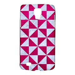Triangle1 White Marble & Pink Leather Galaxy S4 Active