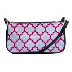 Tile1 White Marble & Pink Leather (r) Shoulder Clutch Bags
