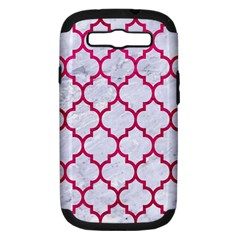 Tile1 White Marble & Pink Leather (r) Samsung Galaxy S Iii Hardshell Case (pc+silicone)