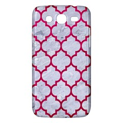 Tile1 White Marble & Pink Leather (r) Samsung Galaxy Mega 5 8 I9152 Hardshell Case