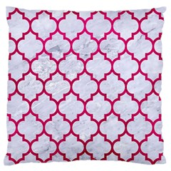 Tile1 White Marble & Pink Leather (r) Standard Flano Cushion Case (one Side) by trendistuff