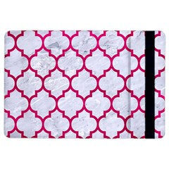 Tile1 White Marble & Pink Leather (r) Ipad Air 2 Flip by trendistuff