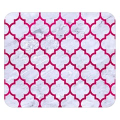 Tile1 White Marble & Pink Leather (r) Double Sided Flano Blanket (small)  by trendistuff