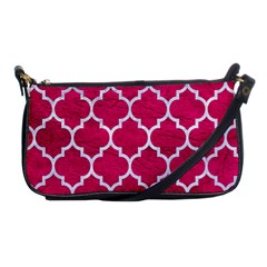 Tile1 White Marble & Pink Leather Shoulder Clutch Bags