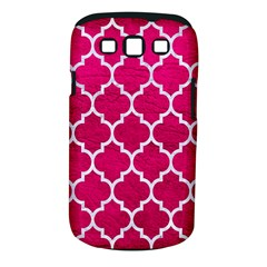 Tile1 White Marble & Pink Leather Samsung Galaxy S Iii Classic Hardshell Case (pc+silicone)