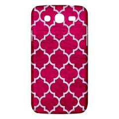 Tile1 White Marble & Pink Leather Samsung Galaxy Mega 5 8 I9152 Hardshell Case  by trendistuff