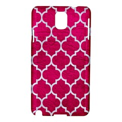 Tile1 White Marble & Pink Leather Samsung Galaxy Note 3 N9005 Hardshell Case by trendistuff