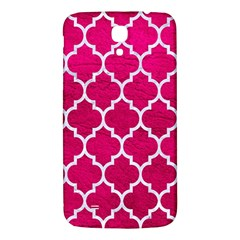 Tile1 White Marble & Pink Leather Samsung Galaxy Mega I9200 Hardshell Back Case