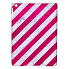Stripes3 White Marble & Pink Leather (r) Ipad Air Hardshell Cases