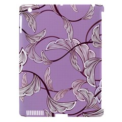 Floral Retro Pattern Blue Apple Ipad 3/4 Hardshell Case (compatible With Smart Cover)