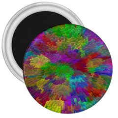 Colorful Patern Art Rainbow 3  Magnets