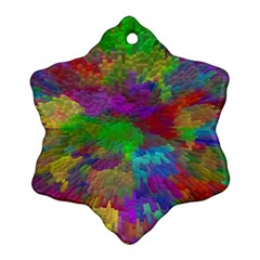 Colorful Patern Art Rainbow Snowflake Ornament (two Sides)