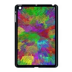 Colorful Patern Art Rainbow Apple Ipad Mini Case (black) by goodart