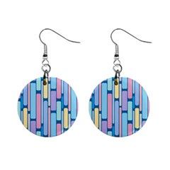 Retro Blocks Mini Button Earrings by goodart