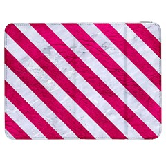 Stripes3 White Marble & Pink Leather Samsung Galaxy Tab 7  P1000 Flip Case