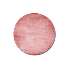 Red Color Patern Art Magnet 3  (round) by goodart