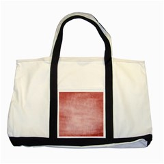 Red Color Patern Art Two Tone Tote Bag