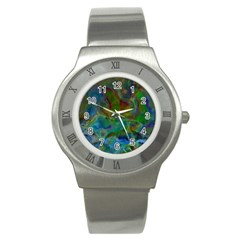Rainbow Patern Color Stainless Steel Watch