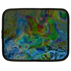 Rainbow Patern Color Netbook Case (large) by goodart