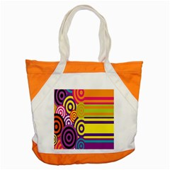 Retro Circles And Stripes 60s Accent Tote Bag