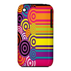Retro Circles And Stripes 60s Iphone 3s/3gs