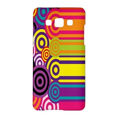 Retro Circles And Stripes 60s Samsung Galaxy A5 Hardshell Case