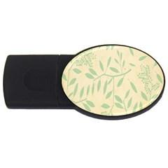 Leaves Vintage Pattern Usb Flash Drive Oval (4 Gb) by goodart