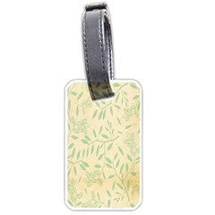 Leaves Vintage Pattern Luggage Tags (two Sides) by goodart