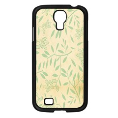 Leaves Vintage Pattern Samsung Galaxy S4 I9500/ I9505 Case (black) by goodart