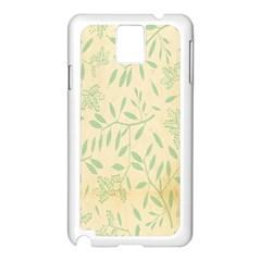 Leaves Vintage Pattern Samsung Galaxy Note 3 N9005 Case (white) by goodart