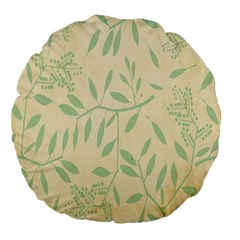 Leaves Vintage Pattern Large 18  Premium Flano Round Cushions