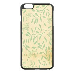 Leaves Vintage Pattern Apple Iphone 6 Plus/6s Plus Black Enamel Case by goodart
