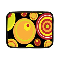 Retro Circles Background Yellow Netbook Case (small)