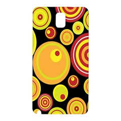 Retro Circles Background Yellow Samsung Galaxy Note 3 N9005 Hardshell Back Case