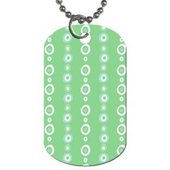 Retro Green Pattern Dog Tag (one Side)