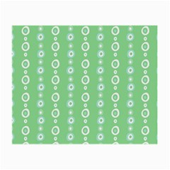 Retro Green Pattern Small Glasses Cloth (2 Side)