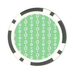 Retro Green Pattern Poker Chip Card Guard