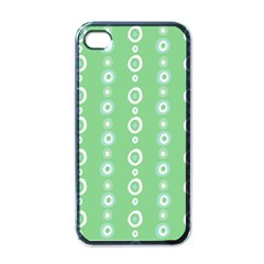 Retro Green Pattern Apple Iphone 4 Case (black)