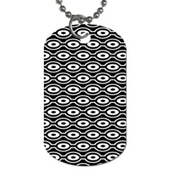 Retro Circles Pattern Dog Tag (one Side)